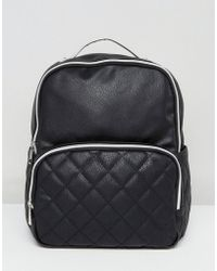 Liquorish - Quilted Pocket Backpack - Lyst