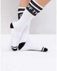 Vans - Crew Socks With Off The Wall Logo - Lyst