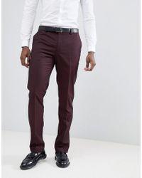 Mango - Pantalones de traje en burdeos de Man - Lyst