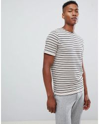 SELECTED - T-shirt With Textured Stripe - Lyst