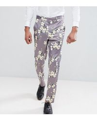 Skinny Crop Smart Trousers With Paisley Print - Green Asos rFf3u