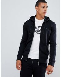 Emporio Armani - Hooded Logo Sweat In Black - Lyst