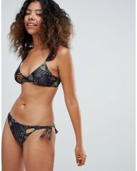 Pimkie - Tropical Ruffle Bikini Brief - Lyst
