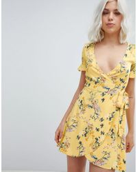 Pull&Bear - Printed Tea Dress In Floral - Lyst
