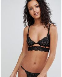 ASOS - Violet Geo Lace Triangle Bra - Lyst