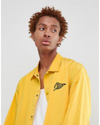 FairPlay - Long Sleeve Coach Jacket In Yellow - Lyst