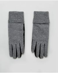 French Connection - Knit And Leather Gloves - Lyst