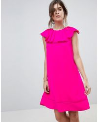 Ted Baker - Clarees Shift Dress With Ruffle Neckline - Lyst