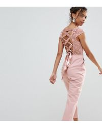 80233974539 ASOS - Lace Top Jumpsuit With Lattice Back - Lyst