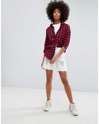 ONLY - Low Boyfriend Short With Rips - Lyst