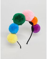 New Look - Rainbow Pom Pom Headband - Lyst