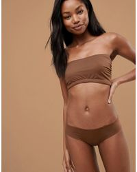 Nubian Skin - Naked Collection Nude Bandeau Bra In Dark - Lyst