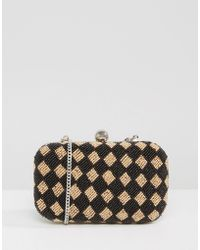 Park Lane - Handmade Beaded Structured Clutch Bag - Lyst