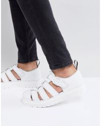 Dr. Martens - Vibal Closed Sandals In White - Lyst