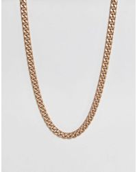 ASOS - Oversized Neckchain In Gold - Lyst