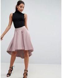 ASOS   Premium Dip Back Prom Skirt In Structured Fabric   Lyst