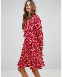 Trollied Dolly - Floral Dress With Scarf - Lyst