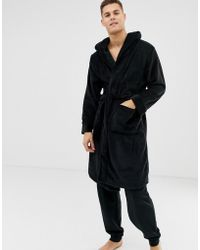 New Look - Dressing Gown In Black - Lyst