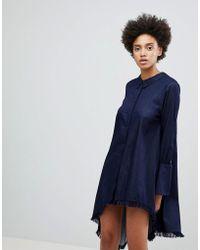 N12H - Early On Asymettric Shirt Dress - Lyst