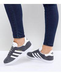adidas Originals - Originals Gazelle Trainers In Dark Grey - Lyst