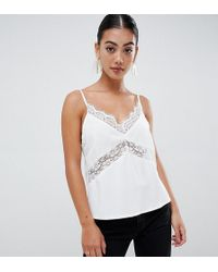 Missguided - Lace Cami In White - Lyst