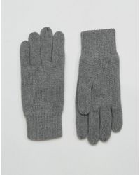SELECTED - Leth Gloves In Grey - Lyst