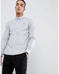 AllSaints - Long Sleeve Shirt In Poplin - Lyst
