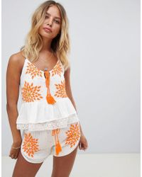 Raga - Neon Fields Embroidered Cami Top - Lyst