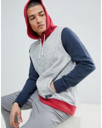 Abercrombie & Fitch - Americana Colour Block Overhead Hoodie In Grey - Lyst