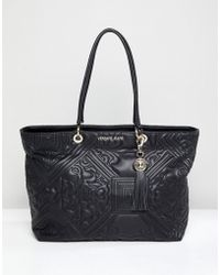 Versace Jeans Baroque Quilted Tote