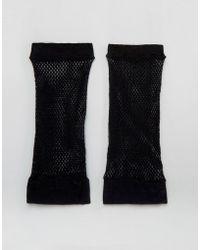 ASOS - Fishnet Gloves - Black - Lyst