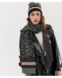 Pieces - Kleo Scarf And Beanie Set - Lyst