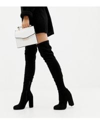 ASOS - Asos Design Wide Fit Tall Kassidy Heeled Over The Knee Boots - Lyst