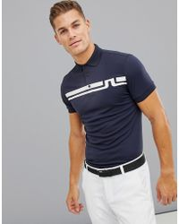 J.Lindeberg - Golf Eddy Slim Fit Tx Jersey Polo In Navy - Lyst