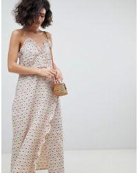 INTROPIA - Printed Midi Slip Dress - Lyst