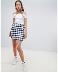 Daisy Street - Checked Skirt With Frill Detail - Lyst
