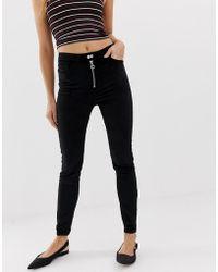 Urban Bliss - Uncut Cord High Waist Skinny Jeans - Lyst