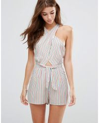 6 Shore Road By Pooja - Cargo Wrap Playsuit - Lyst