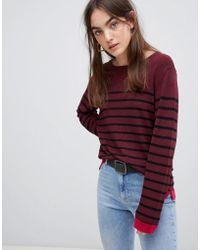 B.Young - Stripe Fine Knit Jumper - Lyst