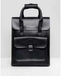 Dr. Martens - Black Leather Backpack - Lyst