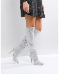 ALDO - Claira Crystal Slouch Boots - Lyst