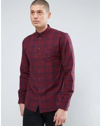 Minimum - Thick Textured Flannel Check Shirt - Lyst