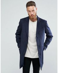 Benetton | Wool Overcoat | Lyst