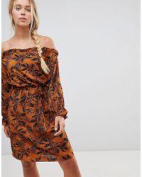 Madam Rage - Off Shoulder Floral Printed Dress - Lyst