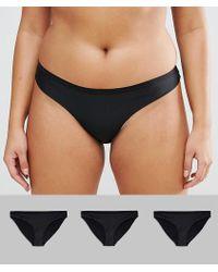 ASOS - Asos Design Curve 3 Pack Seam Free Brazilian Pants - Lyst