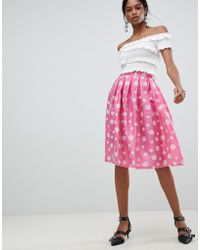 Liquorish - Polka Dot Pleated Prom Skirt - Lyst