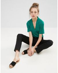 B.Young   V Neck Blouse   Lyst