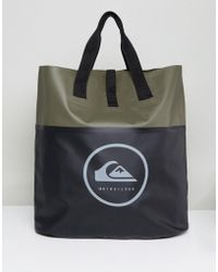 Quiksilver - Sea Tote Bag In Khaki/black - Lyst