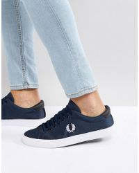 Fred Perry - Underspin Nylon Trainers In Navy - Lyst