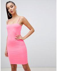 8e6dcbbc62d5f Miss Selfridge Satin Slip Dress In Light Pink in Pink - Lyst